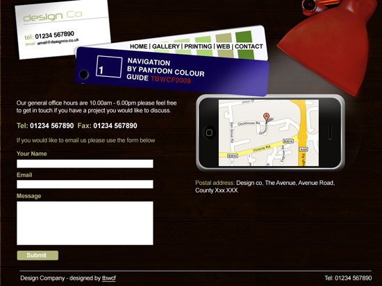 Contact page template