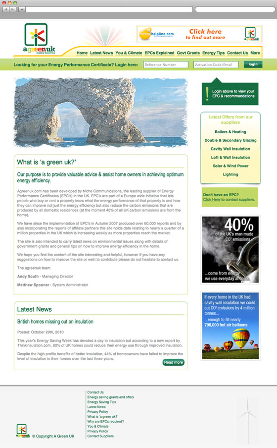 A Green UK website