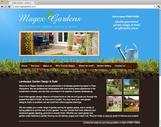 Screenshot of Magex Gardens website